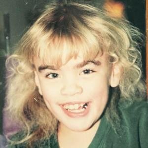 Beautiful Sara when she was little.